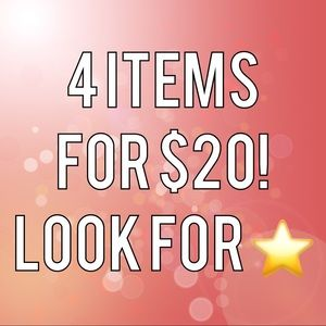 ⭐️⭐️⭐️⭐️ 4/$20 SALE! ⭐️⭐️⭐️⭐️